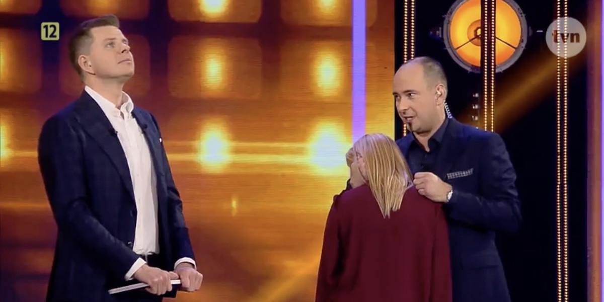 Artur Makieła i Filip Chajzer podczas programu Hipnoza
